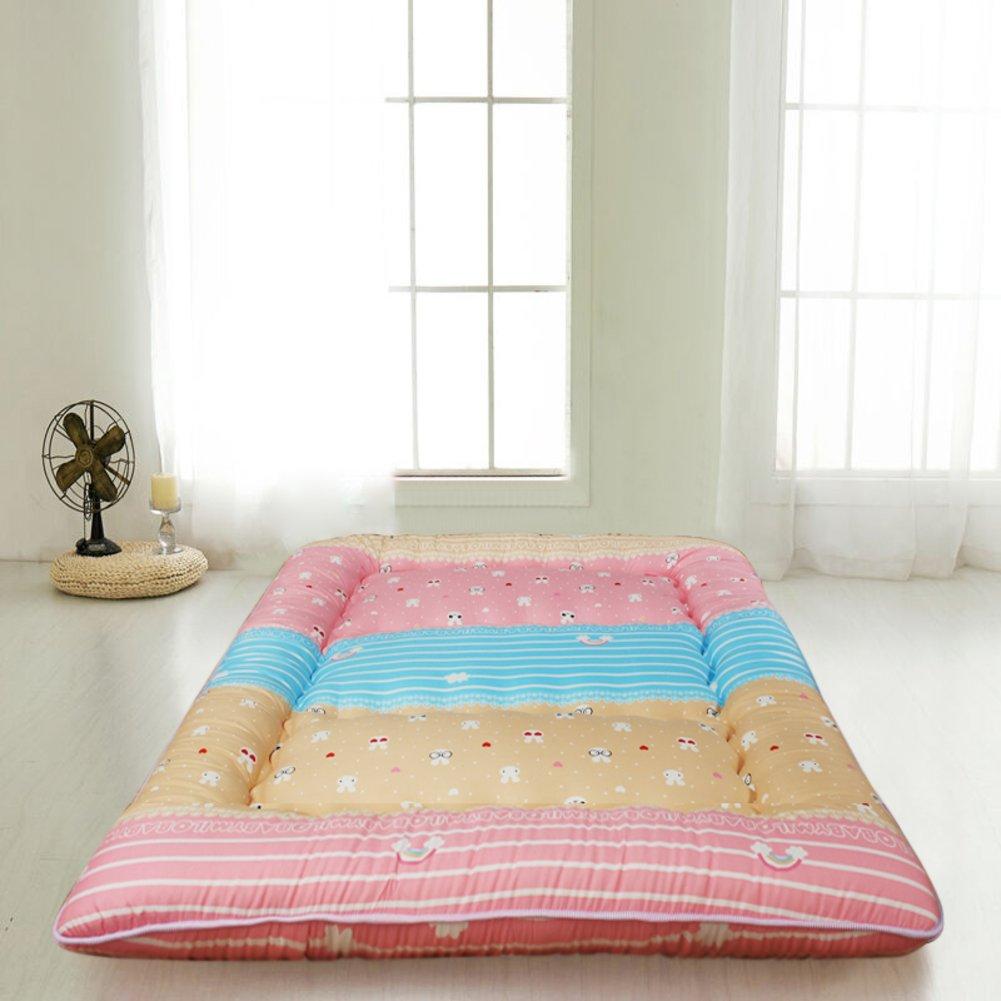 床を厚く マットレス パッド カバー 地面暖かいアンチス キッド畳ベッド トッパー マットレス 1.2 折りたたみ ツイン マットレス 1.5 m ベッド マットレス 1.8 メートル-G B07CQHTRGR