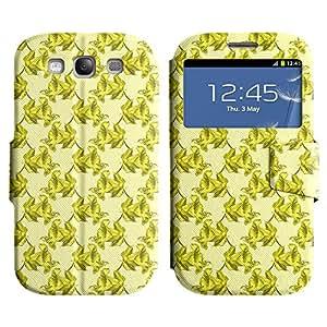 LEOCASE flor linda Funda Carcasa Cuero Tapa Case Para Samsung Galaxy S3 I9300 No.1004382