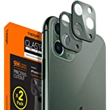 Spigen Camera Lens Screen Protector [2 Pack] Designed for iPhone 11 Pro/iPhone 11 Pro Max - Midnight Green