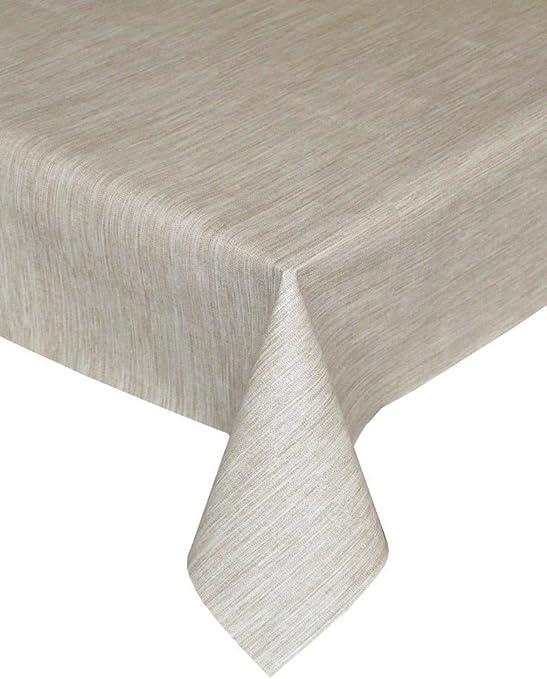 Textura Tejido LOOK PVC mantel, fácil de limpiar mantel, ropa de ...