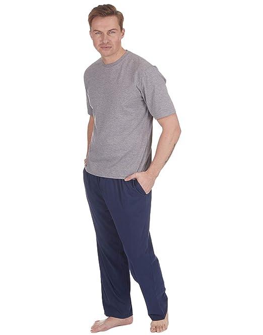 Pijamas para Hombre Set Top Manga Corta & Largo Pantalones De Chándal Verano (1 o