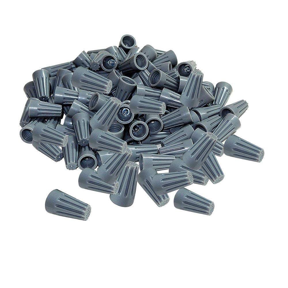 100Pcs twist on wire connectors Grey #22 #20 AWG Wire nut Bulk with Spring inserted easy Screw on electrical caps