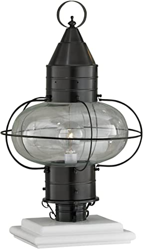 Norwell Lighting Classic Onion Medium Post 1511-BR-CL Bronze Finish with Clear Glass