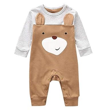 6d38d3d8a9f Mealeaf ❤ Newborn Infant Baby Boy Girl Cartoon Animal Cotton Romper Jumpsuit  Clothes