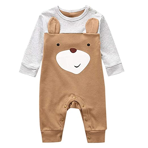 44b62a129fa0 Amazon.com  Clearance Sale ! 0-18 Months Baby Long Sleeve Cotton Romper