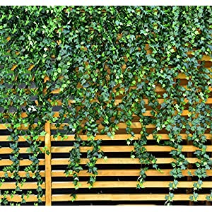 MerryNine Artificial Ivy Leaf, 84 Ft 12 Pack Hanging Vines Garland Fake Ivy Leaves Plants Fake Foliage Flowers Fake Greenery Decor for Home Kitchen Garden Office Wedding Wall Party Decoration 1