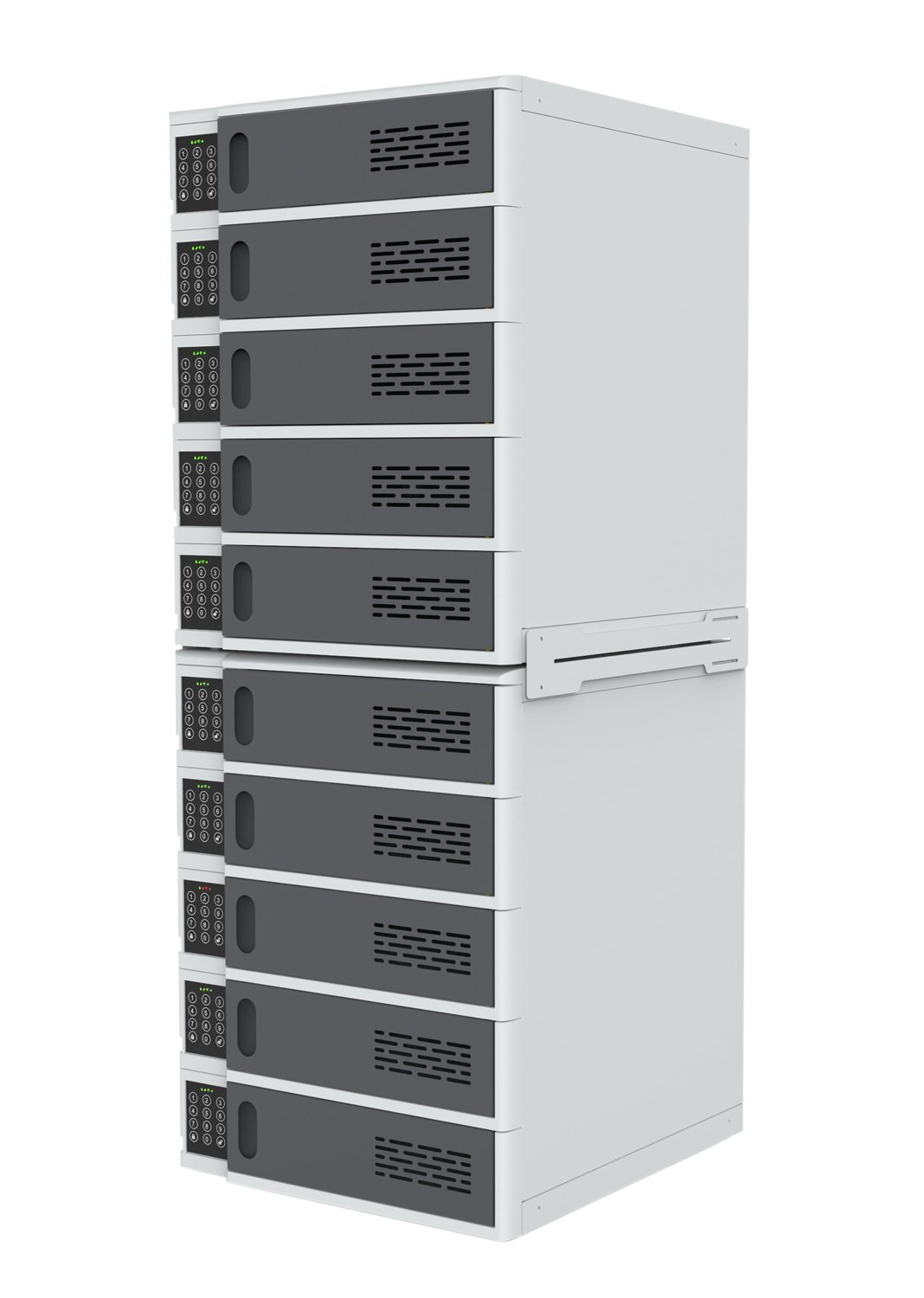 Luxor 10 Bay Charging Locker for Electronic Devices with Digital Key Lock System