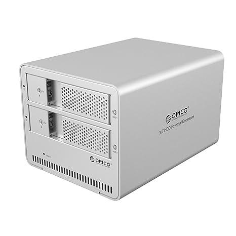 Amazon.com: ORICO aluminio sin herramientas 2 Bay 3.5 inch ...