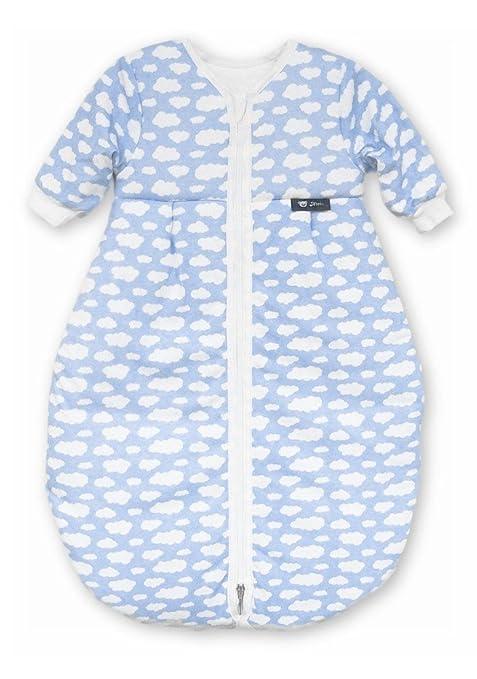 S//3-6Monate, Blauer/_elefant Baby Winter schlafsack Kinder schlafsack 3.5 Tog Schlafsaecke aus Bio Baumwolle Verschiedene Groessen von Geburt bis 4 Jahre alt