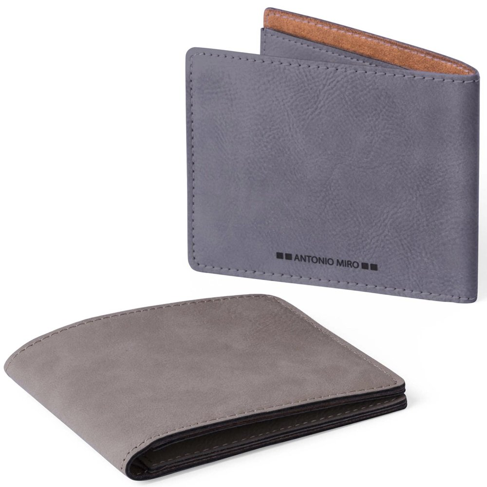 ANTONIO MIRÓ Cartera Piel para 9 compartimentos - Satisfacción Garantizada - Presentación caja con logotipo ideal para regalo (Marrón claro)