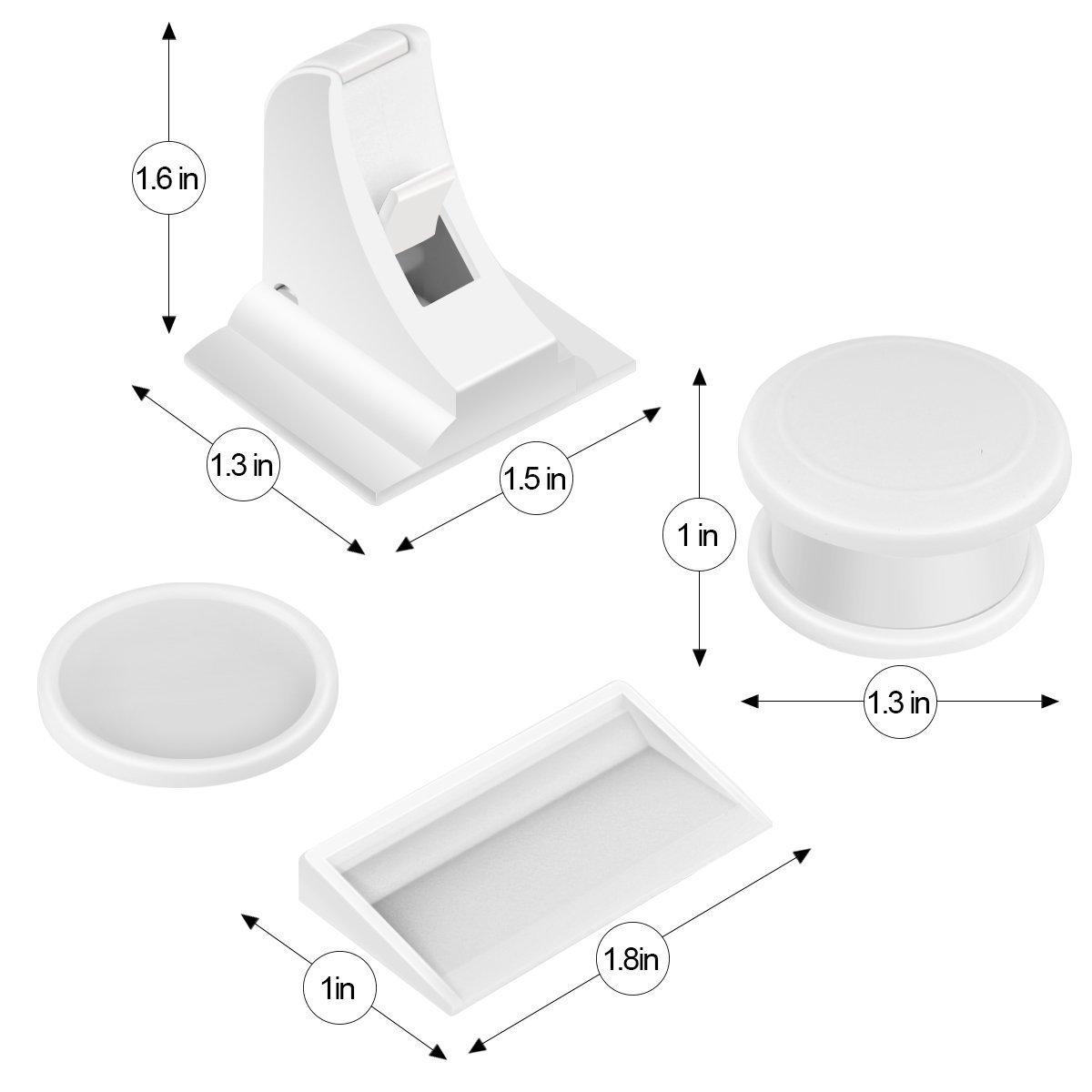 1 cl/é 6 verrous JFUNE tiroirs magn/étique de s/écurit/é Locks B/éb/é et Enfant de s/écurit/é magn/étique Serrure de meuble