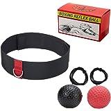 Wiwi Boxen Fight Ball Zwei Speed Übung Bälle für Training Hand Auge Koordination Stanz Genauigkeit Reflex, mit verstellbarem Kopfbügel
