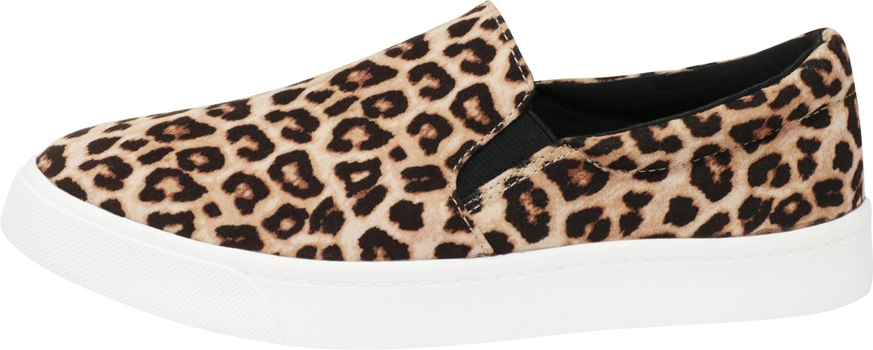 Cambridge Select Women's Classic Casual Closed Round Toe Slip-On Stretch White Sole Flatform Fashion Sneaker B07D4LLJQR 10 B(M) US|Oatmeal Cheetah Imsu