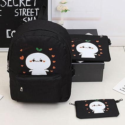 Mango King 3 piezas/set impresión mochila bolso de escuela Mochilas Bolsa de poliéster de