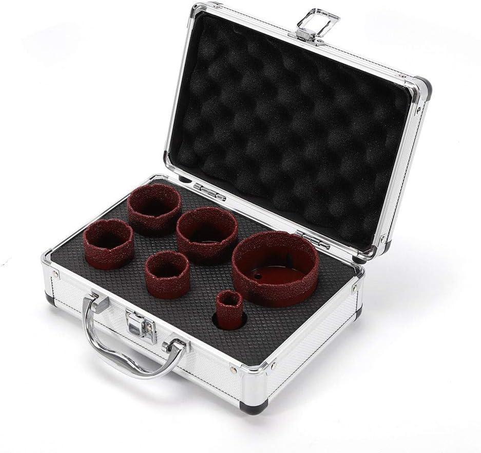 Red Edition gr/ès c/érame Forets diamant/és//Forets Set professionnel Forets diamant/és pour noyau de carrelage 6 pi/èces forets /à granit M14 pour tuiles /à meuleuse dangle /Ø 20-68 mm