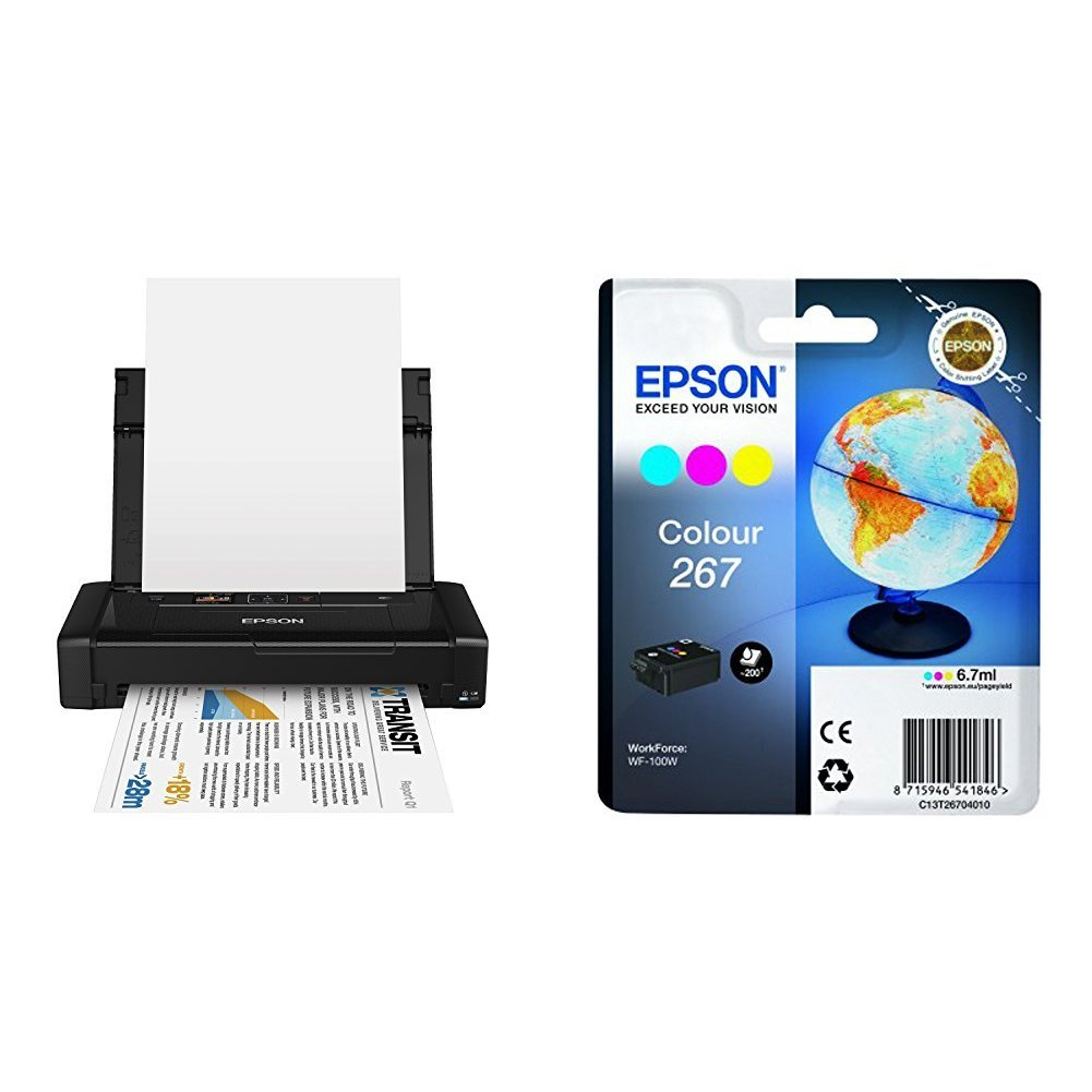 Epson WorkForce WF-100W - Impresora A4 portátil (WiFi y WiFi ...
