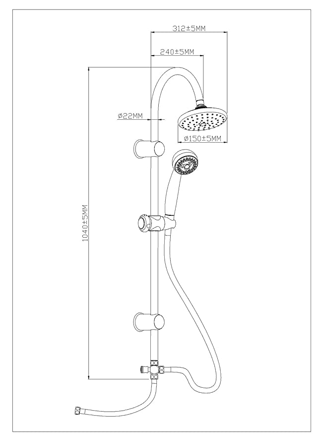 EISL DX12003 Juego de grifería para bañera y ducha: Amazon ...