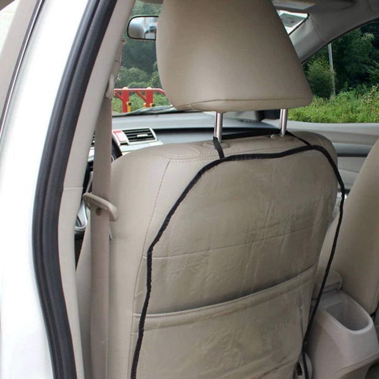 Protectores universales de la cubierta trasera del asiento de autom/óvil para ni/ños Proteja la parte posterior de las fundas de los asientos autom/áticos para beb/é de Mud Dirt negro