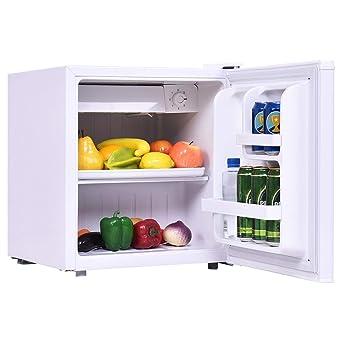 Costway Mini Frigo Mini Réfrigérateur Avec Congélateur 1 Etagère Consommation D énergie Capacité De 48 L énergétique A Blanc