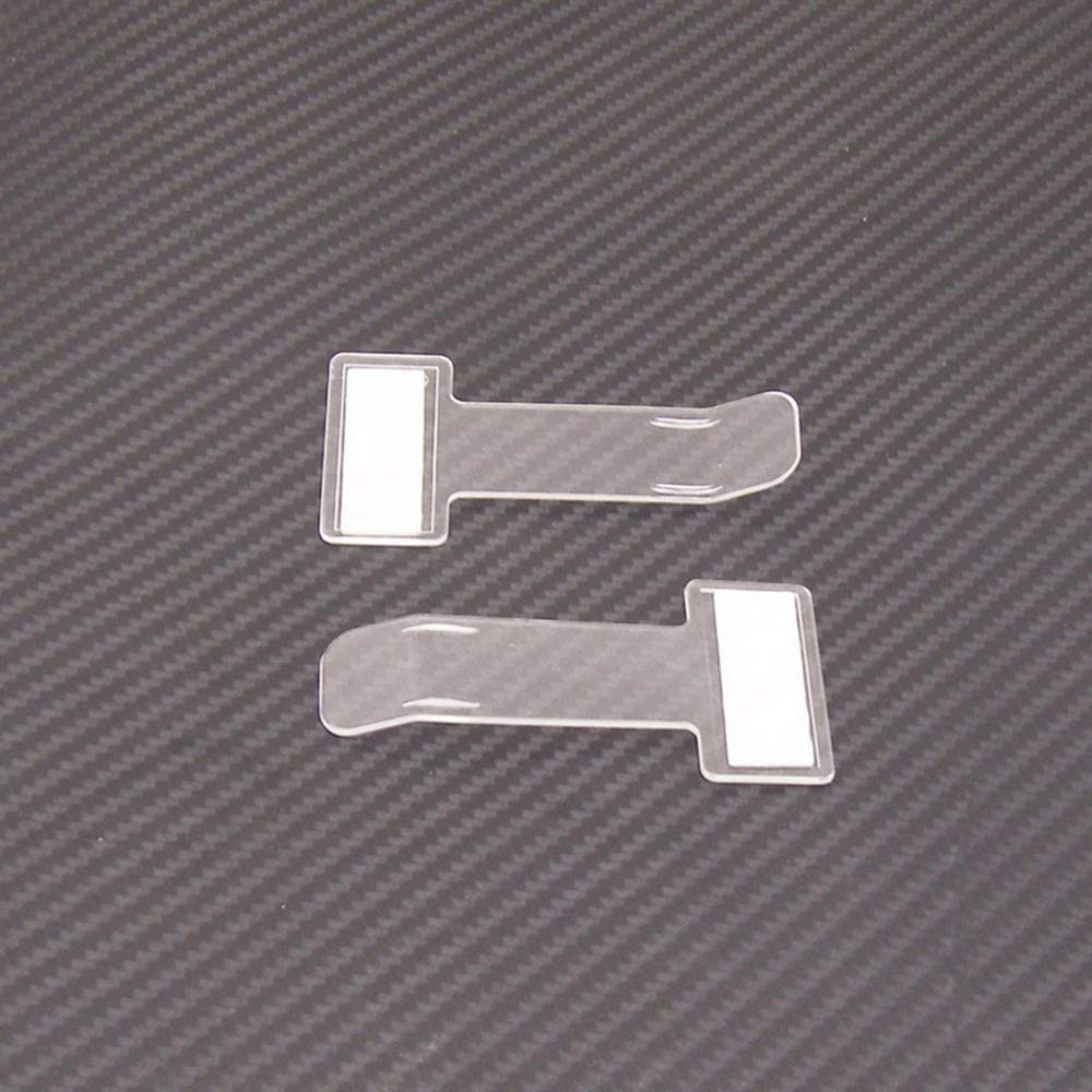 Fesjoy Titulaire de ticket de parking de voiture transparent Clip titulaire de ticket en plastique de synchronisation de voiture titulaire de billets de pare-brise pare-brise avec du ruban adh/ésif Ti