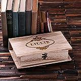 Personalized Wooden Book Keepsake Box Large