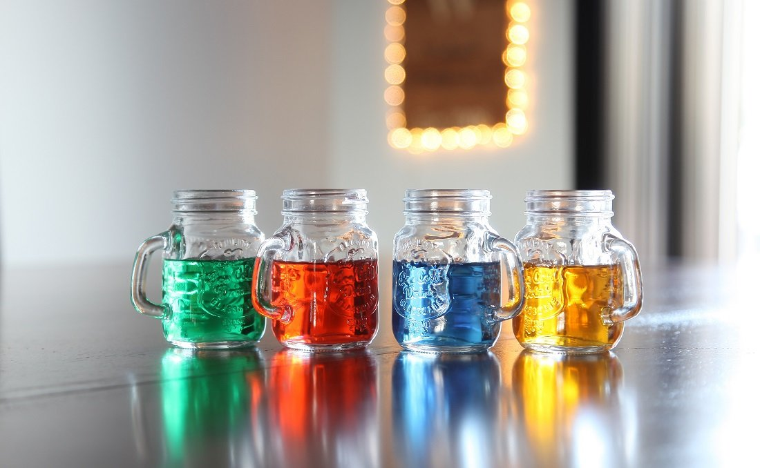 Lily's Home Mini Mason Jar Shot Glasses With Handles, Just Like the Real Deal Except Smaller, A Funny Gift and…