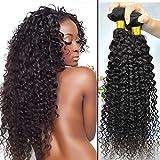 Art of Love Hair Products 3 Bundles Mix Length 18 20 22 Inches Brazilian Curly Virgin Hair Bundle Deals Virgin Remy Human Hair Extension Brazilian Deep Curly Brazilian Virgin Hair Kinky Curly