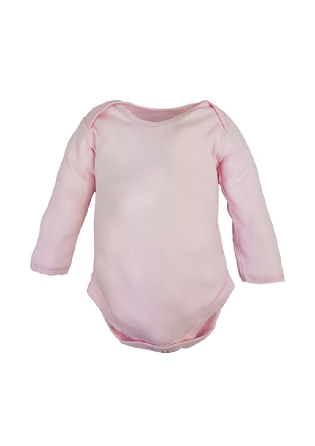 Mini munchkin 6 Rompers Pink Plain Long Sleeve Body Vests Rompers