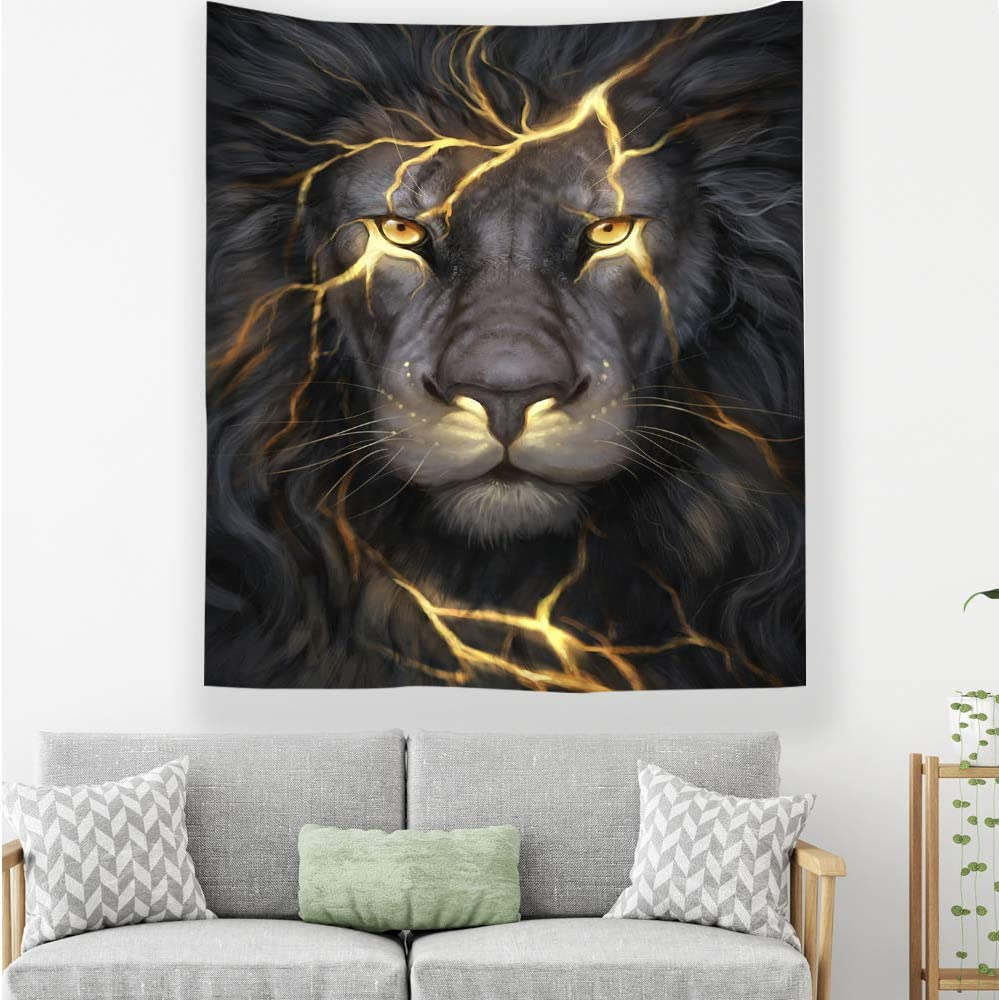 mmzki Tela Colgante Tela Decorativa Tapiz de león T 150 * 130CM ...
