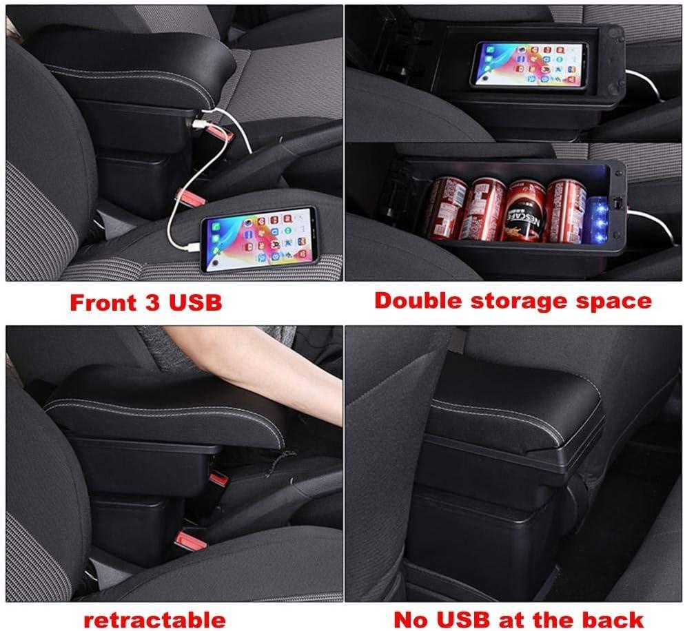 FHNLKFS para Citroen Berlingo,///reposabrazos Reposabrazos del Coche Caja de Almacenamiento de Cuero USB Car-Styling Caja de Consola Central Autom/óviles en Accesorios para autom/óviles