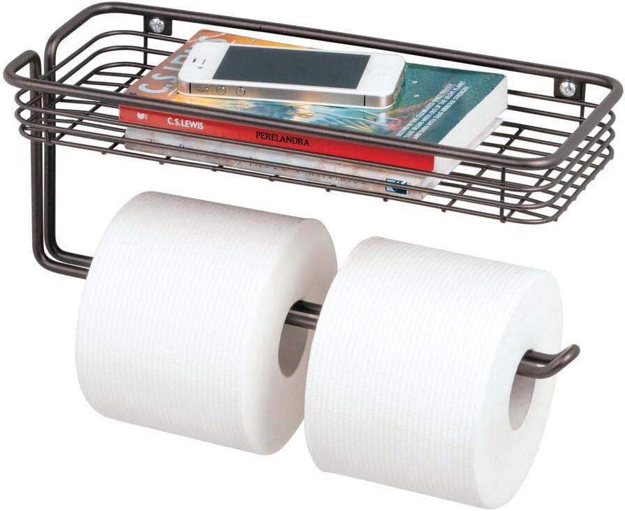 Toilet Tissue Paper Holder Durable Wall-mount Towel Roll Dispenser Storage Rack