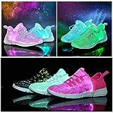 softance Kids LED Light Up Shoes Boys Girls Fiber