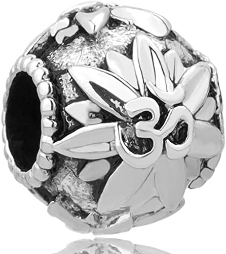 Sug Jasmin–Juego de yoga símbolo Lotus perlas de encanto europeo de ajuste encanto pulseras