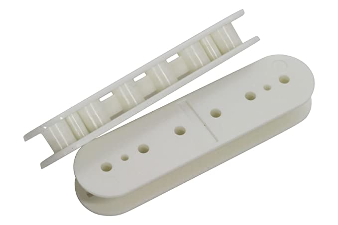 Humbucker Screw Side Pickup Bobbin White 53mm 2pk for pickup makers