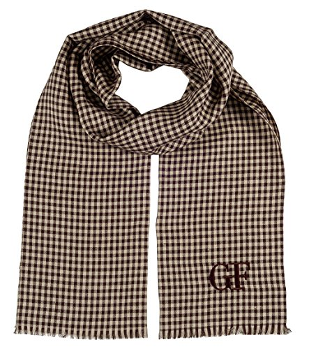 gianfranco-ferre-du3c3308-2-brown-checkered-scarf