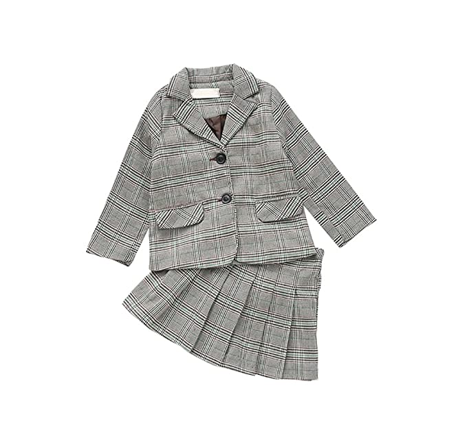 3040474eabeb1 FEVON セットアップ 子供 女の子 男の子 スーツ 学生制服 2点セット フォーマル ジャケット+スカート ジャケット
