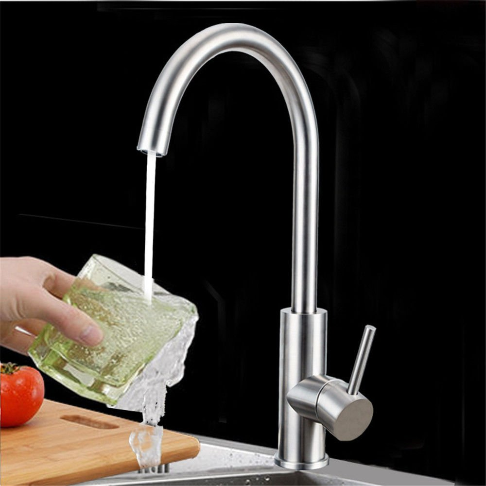 Kitchen Sink taps Kitchen Sink tap Sink Mixer Stainless Steel Cold and hot Handle Mixer taps