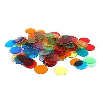 120pcs Chips Fichas Marcadores para Juego de Bingo 6 Colores 3cm: Juguetes y juegos
