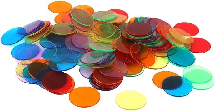 120pcs Chips Fichas Marcadores para Juego de Bingo 6 Colores 3cm: Amazon.es: Juguetes y juegos