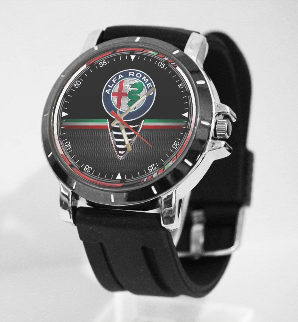 Alfa Romeo Logo Italian Car Custom Metal Sport Rubber Band Big Face