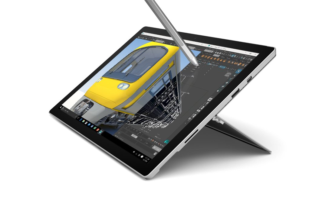 "Tableta Microsoft Surface Pro 4 128GB Silver - Tabletas (31.2 cm (12.3 ""), 2736 x 1824 píxeles, 128 GB, 4 GB, Windows 10 Pro, Plata)"