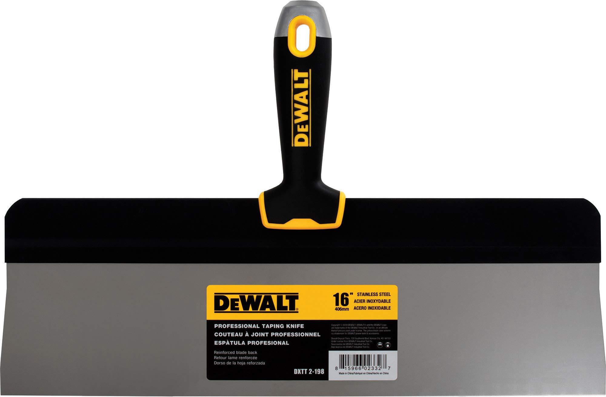 DEWALT 16-Inch Big Back Taping Knife | Stainless Steel w/Soft Grip Handle by DEWALT