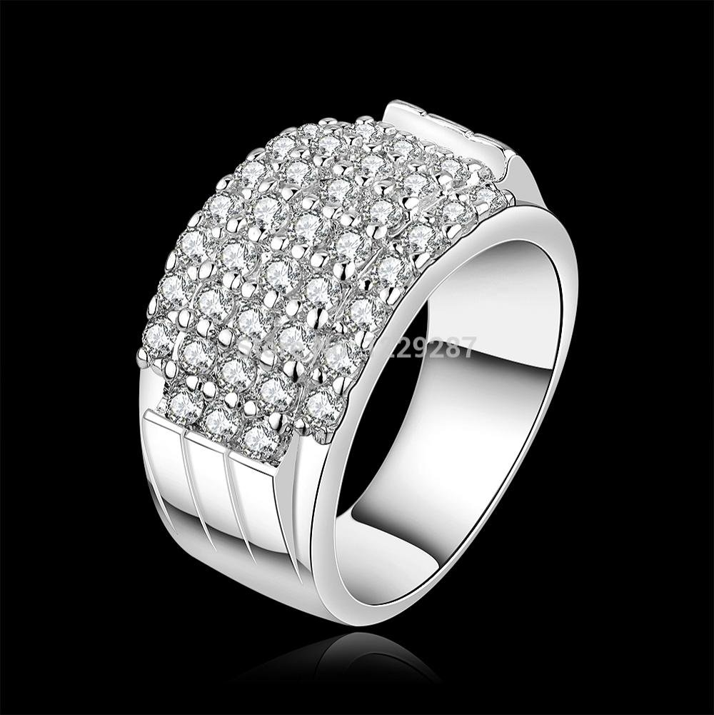 Dancing Zone R485 2015 New Design Engagement Ring 925 Silver Ring ...