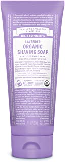 product image for Dr. Bronner's - Organic Shaving Soap (7 Ounce) - Certified Organic, Sugar and Shikakai Powder, Soothes and Moisturizes for Close Comfortable Shave, Use on Face, Underarms and Legs (Lavender)