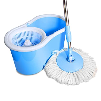 AARNEIL Plastic Basket 360 Spinning Bucket MOP with 1 Extra Refill