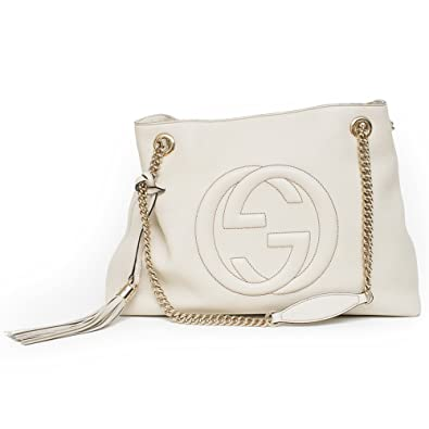50% price choose clearance most reliable Gucci soho mystic white leather shoulder bag authentic new