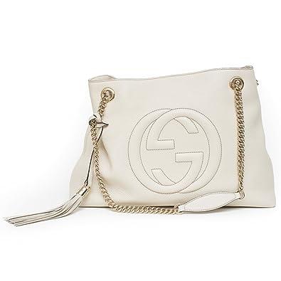 0e7fe802a Amazon.com: Gucci soho mystic white leather shoulder bag authentic ...