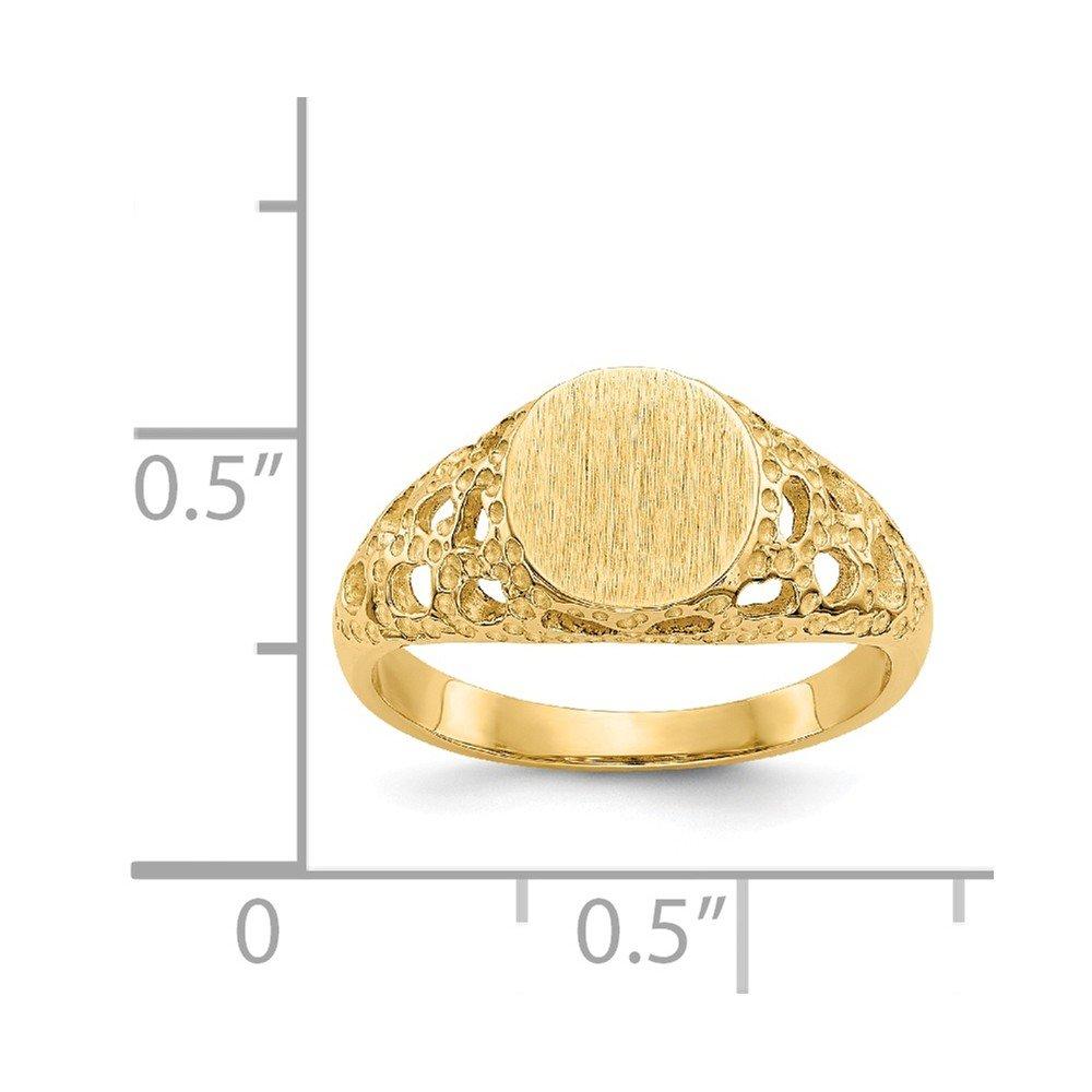 Mia Diamonds 14k Yellow Gold Childs Fancy Signet Ring