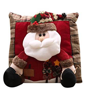 travelling pillow for driving pillows feather and down firm luxurychristmas decorations santa claus snowman