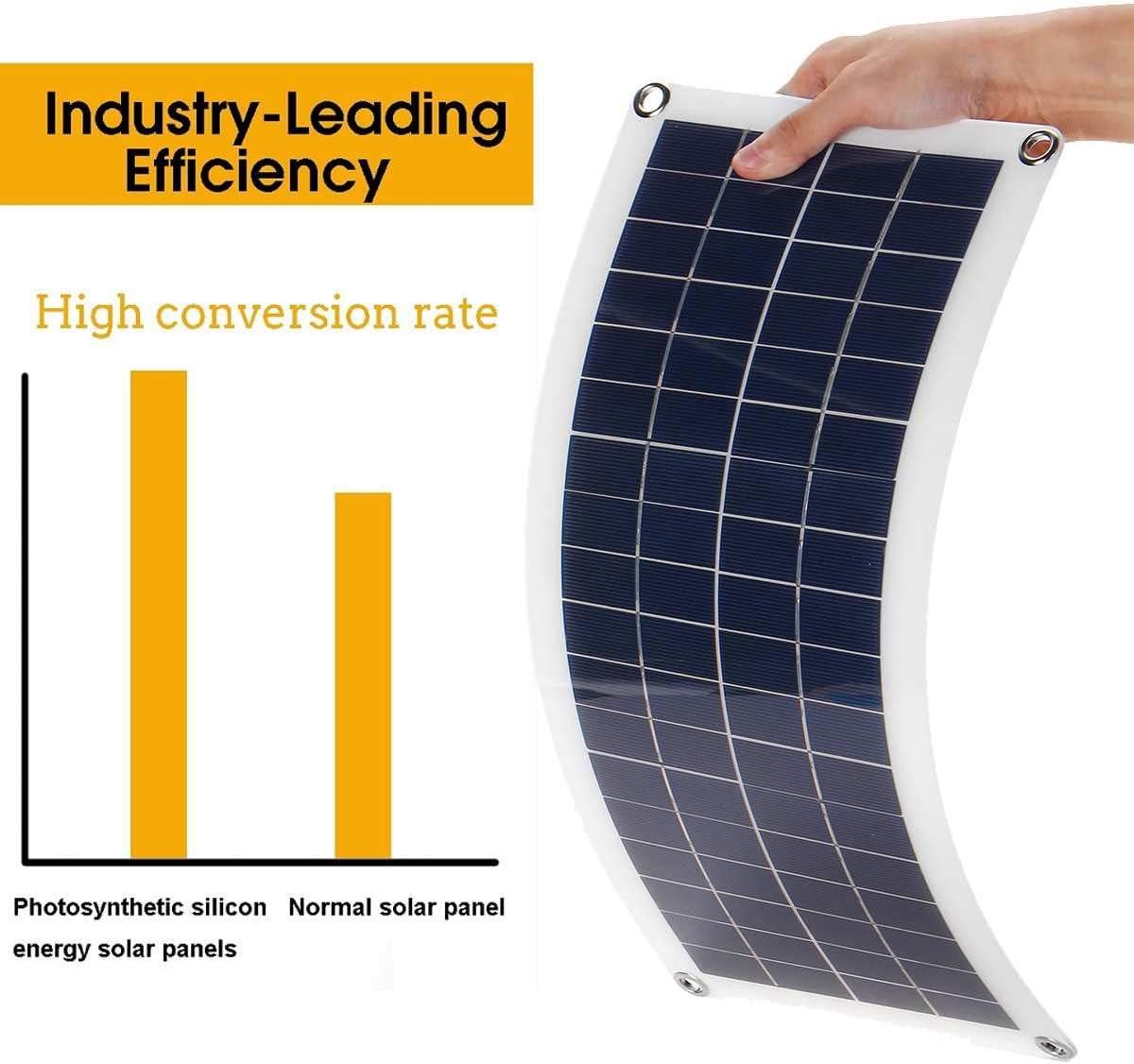 HMLIGHT 50W Flexible Solar Panel 10-30A 12V 24V-Controller Kfz-Ladeger/ät f/ür RV-Auto-Boots-LCD-Display PWM Solar Panel Laderegler,10AController